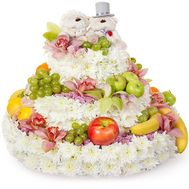 """Cake of flowers and fruits"" in the online flower shop roza.od.ua"