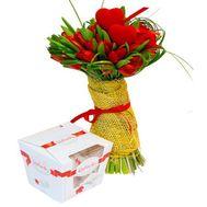 Тюльпаны на Валентина - цветы и букеты на roza.od.ua