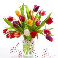 Тюльпаны в вазе - цветы и букеты на roza.od.ua
