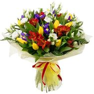 Spring bouquet with irises - flowers and bouquets on roza.od.ua