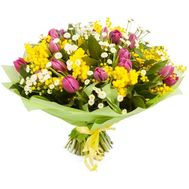 """Spring bouquet with mimosa"" in the online flower shop roza.od.ua"