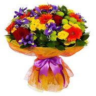 Яркий букет с ирисами - цветы и букеты на roza.od.ua