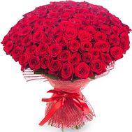 101 роза 60 см - цветы и букеты на roza.od.ua