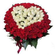 101 roses HEART - flowers and bouquets on roza.od.ua