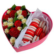 Box with macaroons - flowers and bouquets on roza.od.ua