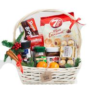 Basket with coffee for the New Year - flowers and bouquets on roza.od.ua