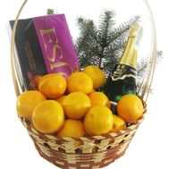 Gift basket with mandarins - flowers and bouquets on roza.od.ua