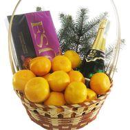 Подарункова корзина з мандаринами - цветы и букеты на roza.od.ua