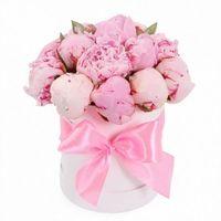 пионы в коробке - цветы и букеты на roza.od.ua