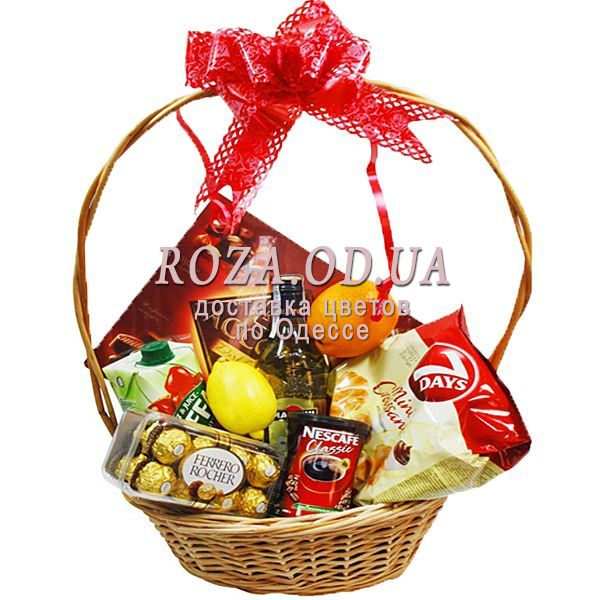 Food Basket With Martini With Delivery In Odessa