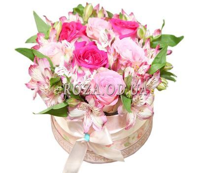 """Bouquet in a round box"" in the online flower shop roza.od.ua"
