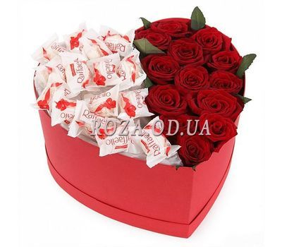 """Flowers and Raffaello in a Box"" in the online flower shop roza.od.ua"