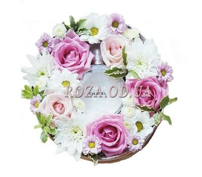 """Flowers in a Box with Spirits"" in the online flower shop roza.od.ua"