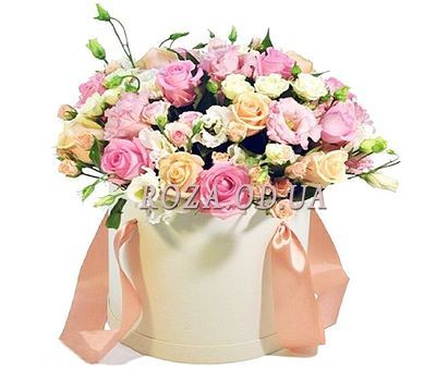 """Delicate bouquet in the box"" in the online flower shop roza.od.ua"