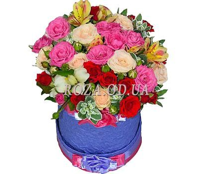 """Bright colors in the box"" in the online flower shop roza.od.ua"