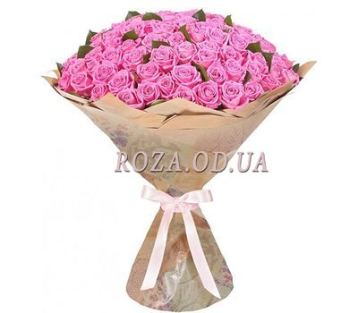 """""""101 pink roses Odessa"""" in the online flower shop roza.od.ua"""