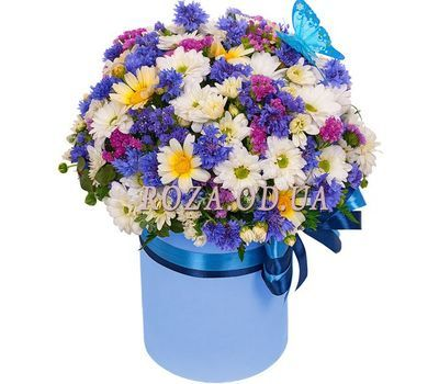 """Bouquet of flowers in a box Odessa"" in the online flower shop roza.od.ua"
