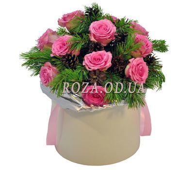 """""""Букет на Новый год в коробке"""" в интернет-магазине цветов roza.od.ua"""