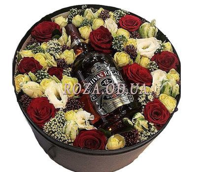 """""""Flowers and whiskey"""" in the online flower shop roza.od.ua"""