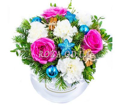 """New Year colors"" in the online flower shop roza.od.ua"