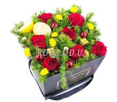 """New Years roses"" in the online flower shop roza.od.ua"