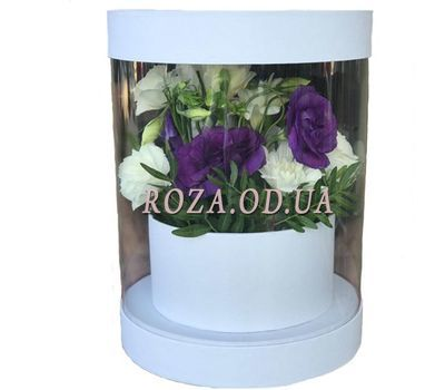 """Transparent box with flowers"" in the online flower shop roza.od.ua"