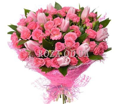 """The Pink Sunset"" in the online flower shop roza.od.ua"