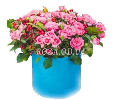 """Roses in a round box"" in the online flower shop roza.od.ua"