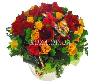 """A chic New Year bouquet"" in the online flower shop roza.od.ua"