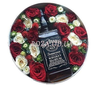 """Whiskey and flowers"" in the online flower shop roza.od.ua"