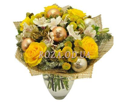 """Bright New Year Bouquet"" in the online flower shop roza.od.ua"