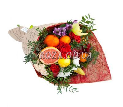 """""""Bouquet of fruits with pomegranate"""" in the online flower shop roza.od.ua"""