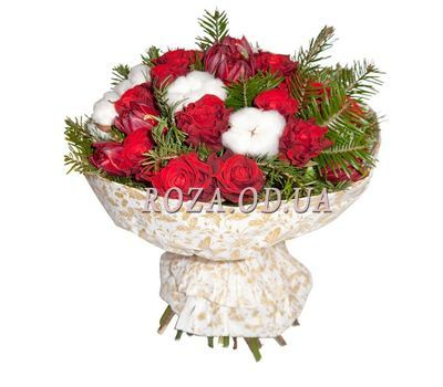 """New Year bouquet of roses"" in the online flower shop roza.od.ua"