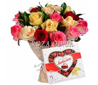 """Colorful bouquet"" in the online flower shop roza.od.ua"