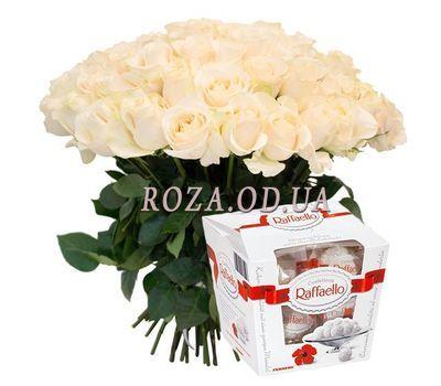 """""""Купить букет белых роз"""" в интернет-магазине цветов roza.od.ua"""