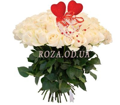 """""""Buy a bouquet of white roses"""" in the online flower shop roza.od.ua"""