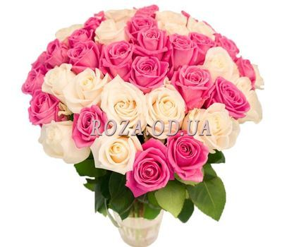 """Delicate bouquet of white and pink roses"" in the online flower shop roza.od.ua"
