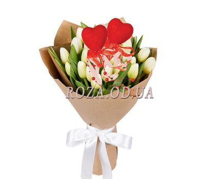 """Loving hearts"" in the online flower shop roza.od.ua"