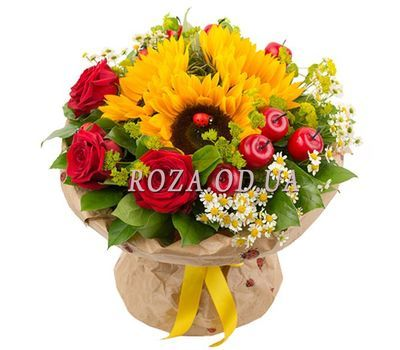 """Bouquet of flowers - Fireworks of emotions"" in the online flower shop roza.od.ua"