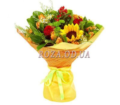"""Bouquet of flowers - Hit of summer"" in the online flower shop roza.od.ua"