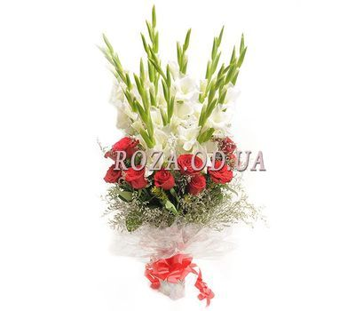 """""""Bouquet of roses and gladioluses"""" in the online flower shop roza.od.ua"""