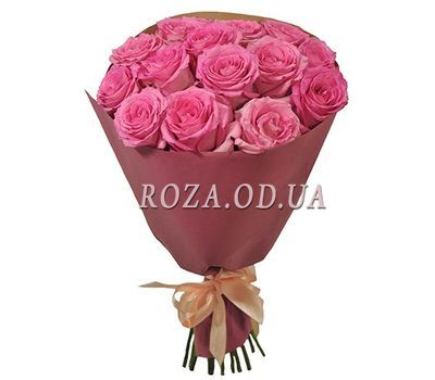 """15 pink roses 70 cm"" in the online flower shop roza.od.ua"