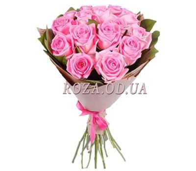 """15 pink roses"" in the online flower shop roza.od.ua"