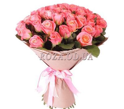 """39 peach roses"" in the online flower shop roza.od.ua"