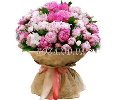 """""""51 peonies"""" in the online flower shop roza.od.ua"""