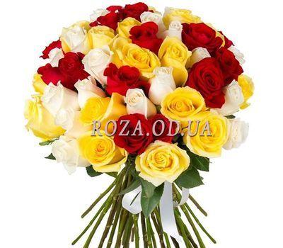 """51 разноцветная роза"" в интернет-магазине цветов roza.od.ua"