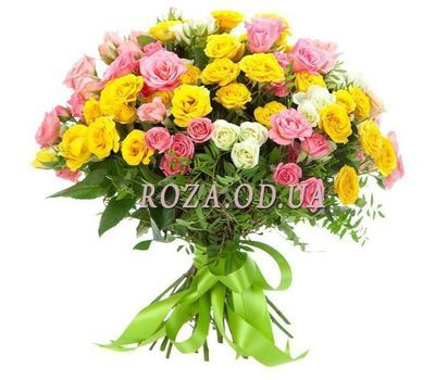 """""""Bouquet of 21 bush roses"""" in the online flower shop roza.od.ua"""