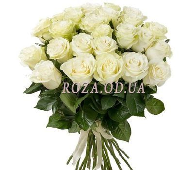 """""""Bouquet of 29 white roses"""" in the online flower shop roza.od.ua"""