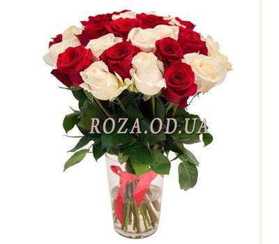 """Bouquet of 29 multi-colored roses"" in the online flower shop roza.od.ua"