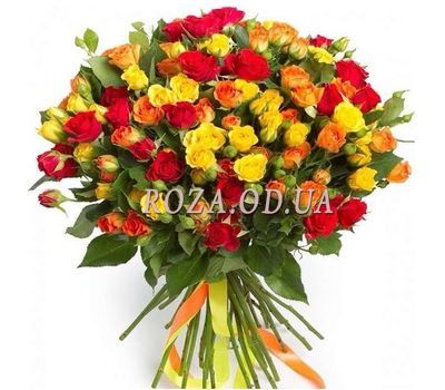 """Bouquet of 45 bush roses"" in the online flower shop roza.od.ua"